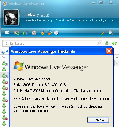 messenger8 5 hell Windows Live Messenger 8.5 Final   8.5.1302.1018