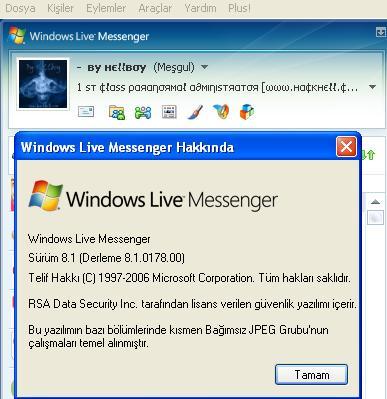 Windows Live Messenger 8.1.0178.00 Final Türkçe +!! Tüm Yamaları !!
