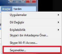 skype1 Skypein Geçmiş Kaydını Silme