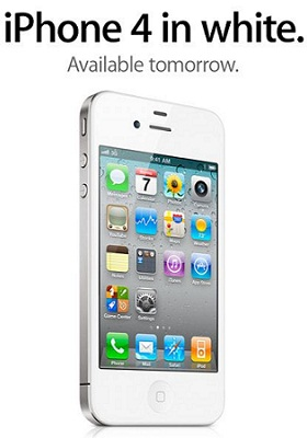 white iPhone 4 official1 iPhone 4 Beyaz Yarindan Itibaren alinabilir!