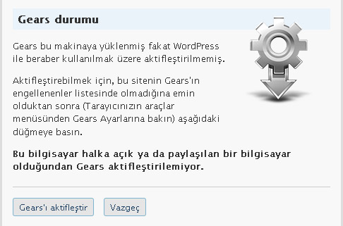 wp gears2 Turbo WordPress :)
