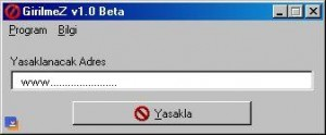 yasak 300x124 Girilmez Beta   Site Yasaklama